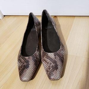 STUART WEITZMAN snakeskin shoes